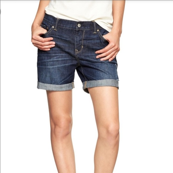 GAP Pants - Gap Sexy Boyfriend Distressed Cuffed Jean Shorts